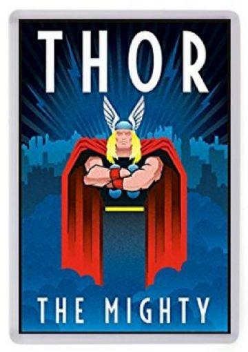 The Mighty Thor Fridge Magnet. Art Deco Style